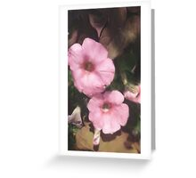 The Pink Flowers Greeting Card