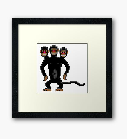 Look behind you! (Monkey Island) Framed Print