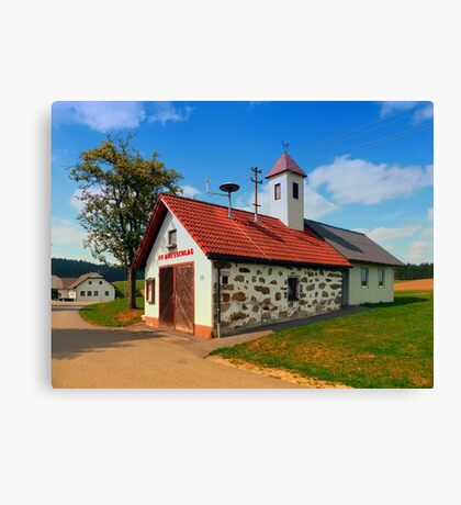 Old traditional firehouse II | architectural photography Canvas Print