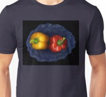 Peppers and blue Bowl Unisex T-Shirt