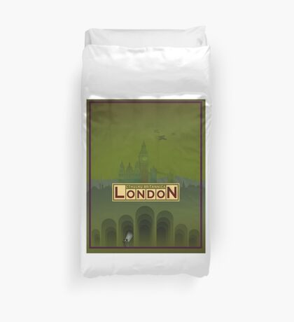 Cthulhu Britannica London Keepers Guide Duvet Cover