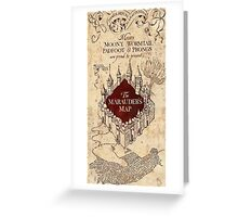 Harry Potter The Marauders Map Greeting Card