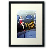 Memphis Belle Nose Art Framed Print