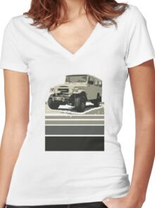 Troopy Women's Fitted V-Neck T-Shirt