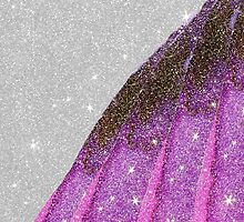 Girly Sparkly Pink, Purple, and Black Faux Glitter by Blkstrawberry