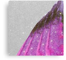 Girly Sparkly Pink, Purple, and Black Faux Glitter Canvas Print