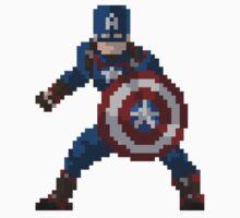 8-Bit Captain America Kids Clothes
