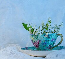 Lily Valley Tea Cup by DIANE  FIFIELD