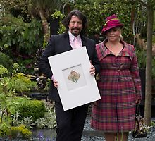 laurence llewelyn bowen with his wife at Chelsea Flower show by Keith Larby