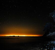 Coromandel coast at night 3 by Paul Mercer