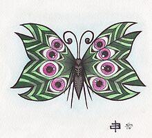 Butterfly Study - Eyeball Wings by geishablack