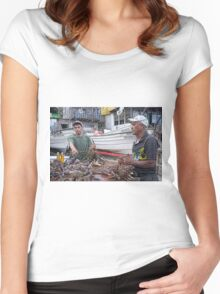 Crabbers in Popotla, Baja Norte Women's Fitted Scoop T-Shirt