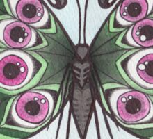 Butterfly Study - Eyeball Wings Sticker