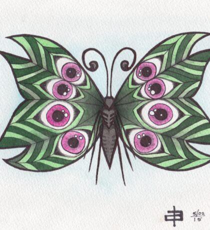 Butterfly Study - Eyeball Wings Sticker
