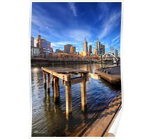 Old Pier on The Yarra - HDR Poster