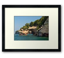 Painted Rocks Tunnel Framed Print
