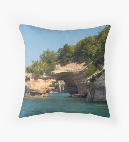 Painted Rocks Tunnel Throw Pillow