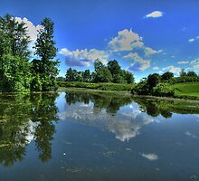Reflections at Fort Lennox by Moxy