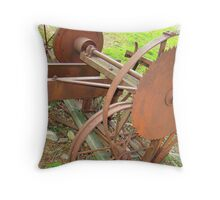 Old Portable Saw Mill Throw Pillow