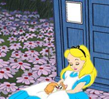 Alice & The Tardis Sticker