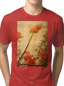 Orange Tulips Tri-blend T-Shirt