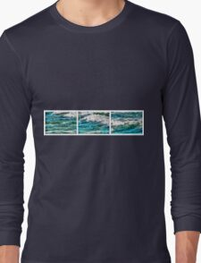 Cresting Waves Triptych Long Sleeve T-Shirt
