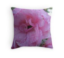 Tissue-Paper Pink Rose Throw Pillow