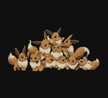 pokemon eevee cute chibi anime shirt Kids Clothes
