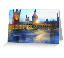 Parliament Building Blur, London Greeting Card