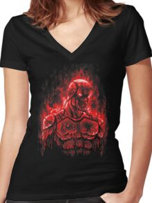 World on Fire Women's Fitted V-Neck T-Shirt