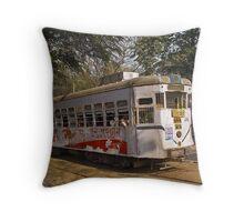 Calcutta Tram Throw Pillow