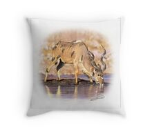GREATER KUDU 2 Throw Pillow