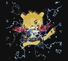 pokemon pikachu edward elric chibi anime shirt Kids Clothes