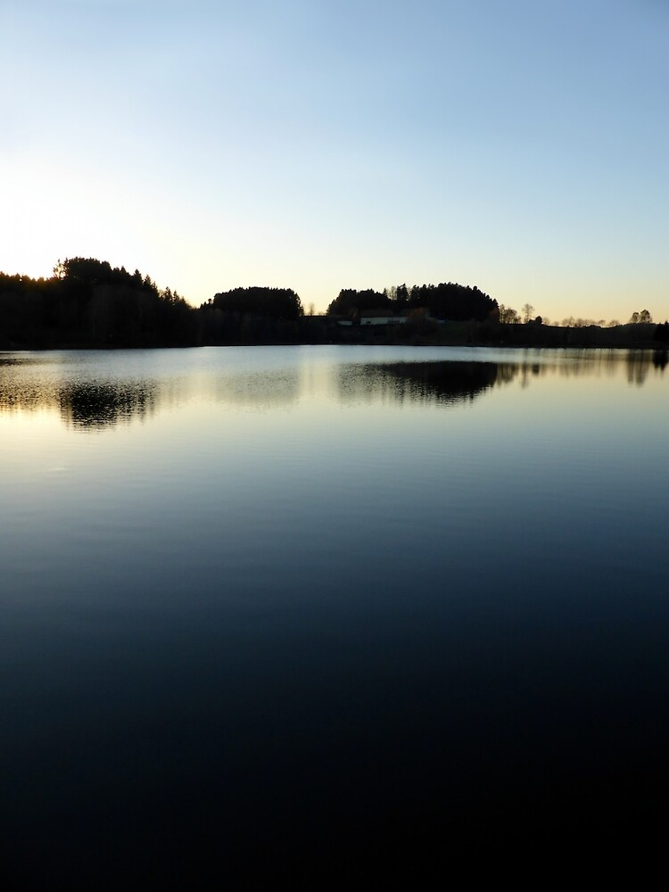 Indian summer sunset at the fishing lake V | waterscape photography by Patrick Jobst