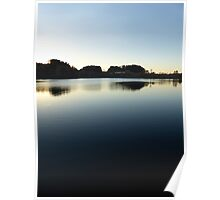 Indian summer sunset at the fishing lake V | waterscape photography Poster