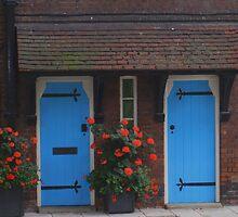 Tower of London, Two Blue Doors by Igor Pozdnyakov