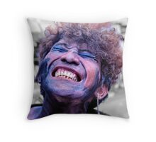 A colourful character Throw Pillow