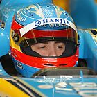 F1 Star Fernando Alonso by Peter  Downing