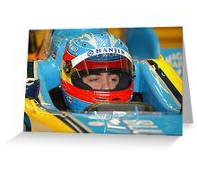 F1 Star Fernando Alonso Greeting Card