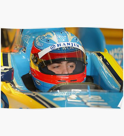 F1 Star Fernando Alonso Poster