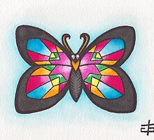 Butterfly Study - Stained Glass by geishablack
