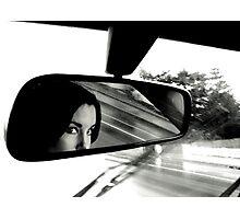 """raining rear vision"" Photographic Print"