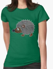 Hedgehog Fabric Art  T-Shirt