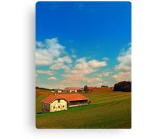 Countryside life with blue cloudy sky | landscape photography Canvas Print