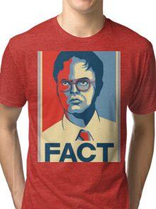 Fact - Dwight Schrute Tri-blend T-Shirt