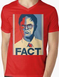 Fact - Dwight Schrute Mens V-Neck T-Shirt
