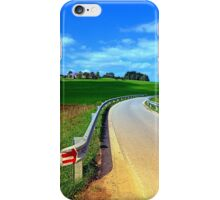 Country road into amazing panorama | landscape photography iPhone Case/Skin