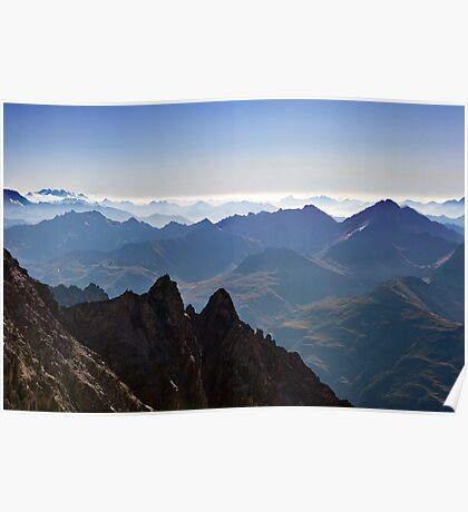 View from Aiguille du Midi Poster