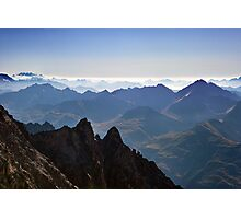 View from Aiguille du Midi Photographic Print