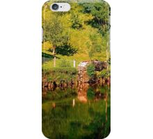 Green life, a river and reflections | waterscape photography iPhone Case/Skin